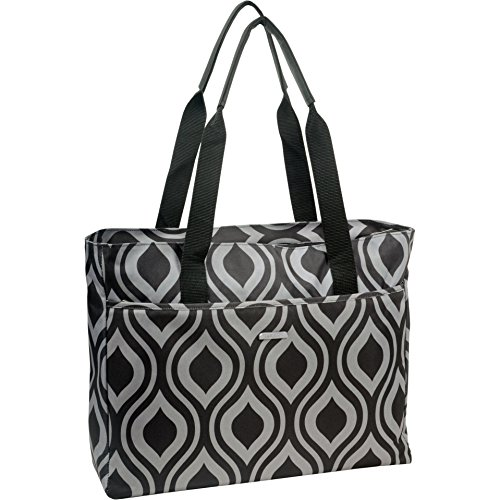 wallybags-womens-tote-black-grey-one-size