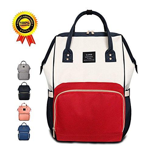 Waterproof Diaper Bag Red - 7