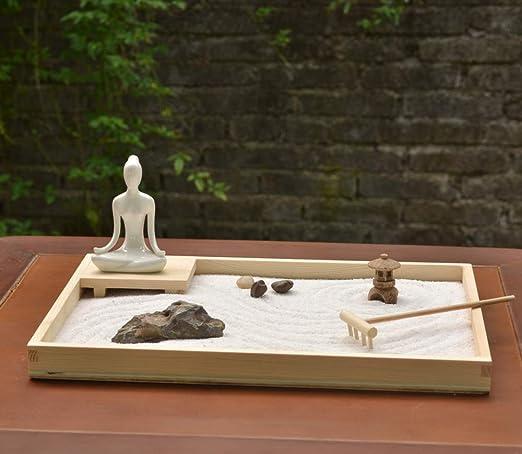Laogg Jardin Zen Estilo Japonés Decoración De Mesa De Arena Seca ...