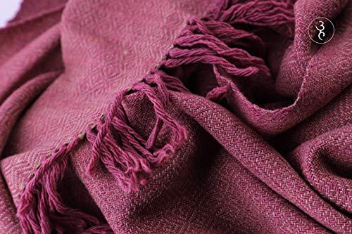 Women's Handspun & Handwoven Merino Wool Scarf