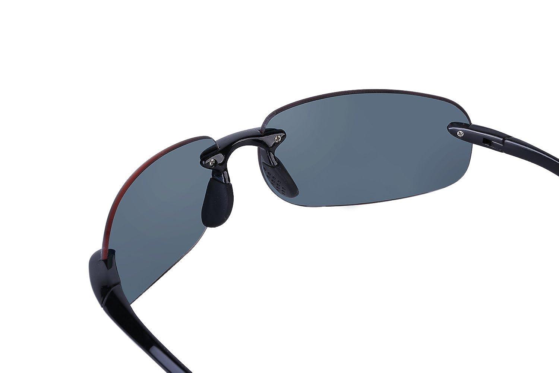 8019bef17d1 Mass Vision Sunglasses, Lovin Maui Wrap Polarized Sunglasses - TR90 Frames  (Black) at Amazon Women's Clothing store: