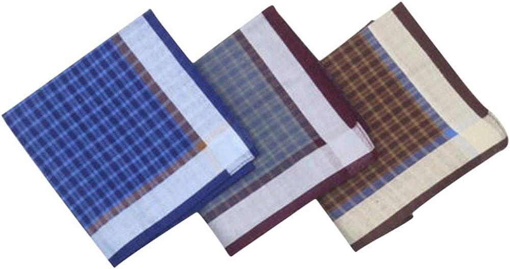 Chinashow – Juego de 3 pañuelos de algodón 100% para hombre ...