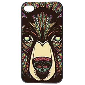 Fashion Personality Vintage Pattern Aztec Animal Bear Hard Back Plastic Case Cover Skin Protector For iphone 5 5g by Alexism
