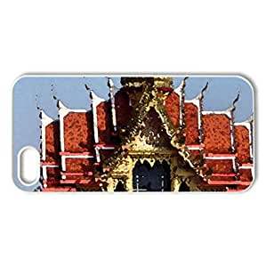 Beautiful Building - Case Cover for iPhone 5 and 5S (Ancient Series, Watercolor style, White)