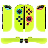 Cheap TNP Nintendo Switch Joy-Con Grip Gel Guards with Thumb Grips Caps – Protective Case Covers Anti-Slip Ergonomic Lightweight Joy Con Comfort Grip Controller Skin Accessories (1 Pair Neon Yellow)