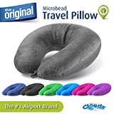 Cloudz Microbead Travel Neck Pillow - Grey