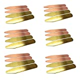 Shang Zun 24 Pcs Brass Collar Stays 2 Colors in Plastic Box, 2.5''
