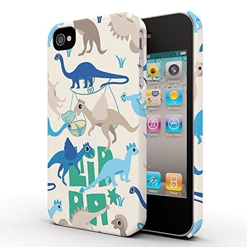 Koveru Back Cover Case for Apple iPhone 4/4S - Baby Dinos