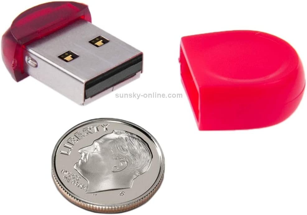 16GB Mini USB Flash Drive for PC and Laptop Red Premium Material