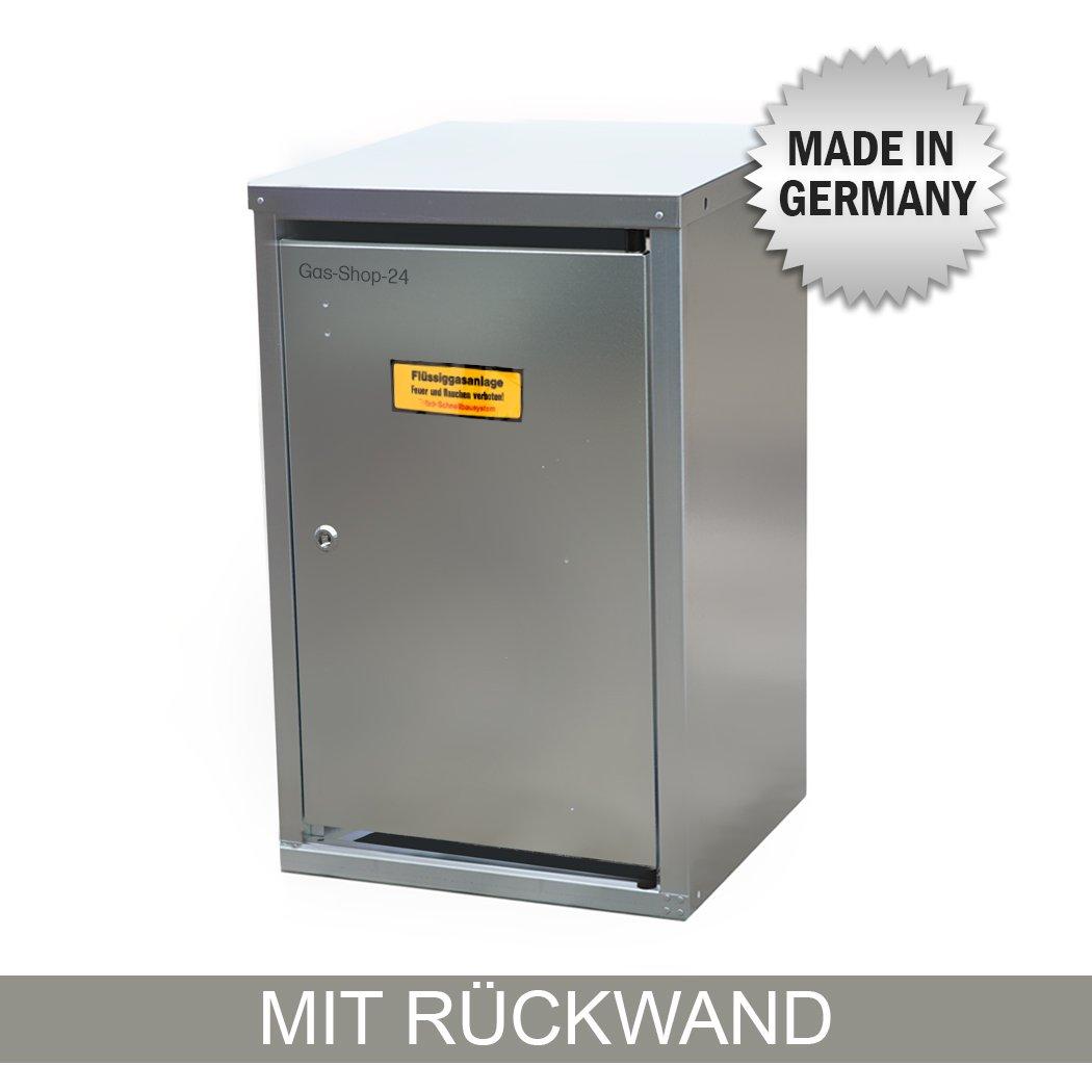 1 x 11 kg Propangas Flaschenschrank/Gasflaschenschrank verzinkt MIT RÜ CKWAND (geeignet fü r 3-, 5, 10, 11 kg Gasflaschen - Gasschrank Schutzschrank) Gas-Shop-24
