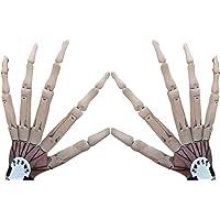 Halloween gewrichtsvingers, horrorskelet handen voor verlenging handschoenen Cosplay Claws Extender Wearable, lange…
