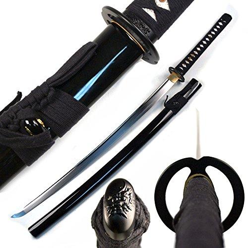 Swords Carbon High Steel (Musashi - 1060 Carbon Steel - Best Miyamoto Sword (Black))