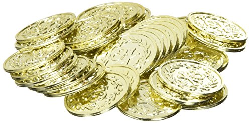 Jake And The Neverland Pirates 40 Pack Party Gold Coins Plastic -