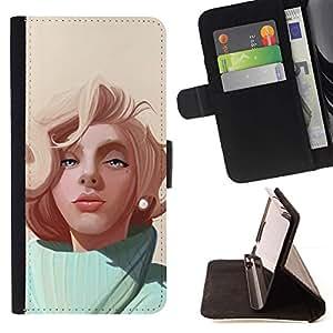 Momo Phone Case / Flip Funda de Cuero Case Cover - Pintura Rubia;;;;;;;; - Sony Xperia M5