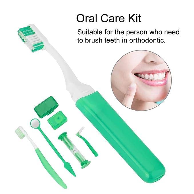 Kit de cuidado de los dientes, Juego de herramientas de limpieza de los dientes Cepillo de dientes Boca Espejo Cepillo de dientes Dientes de hilo dental ...