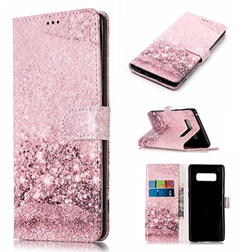 Price comparison product image Note 8 Case,Galaxy Note 8 Case,DAMONDY Luxury Marble Stand Wallet Purse Card ID Holders Design Flip Cover TPU Soft Bumper PU Leather Magnetic Case for Samsung Galaxy Note 8 2017 -rose gold