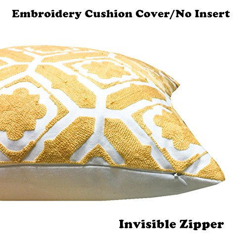 Buy pillow throw covers yellow