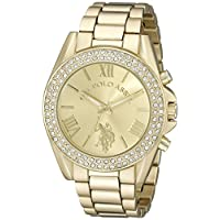 Asociación de Estados Unidos de Polo. Reloj USC40036 dorado para mujer.
