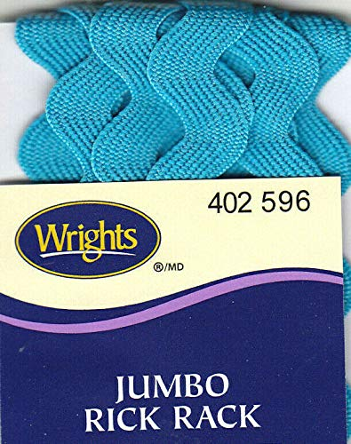 JUMBO RICK RACK-2 1//2 YARDS 1//2 WIDETRIM WRIGHTS BLUE JEWEL 596
