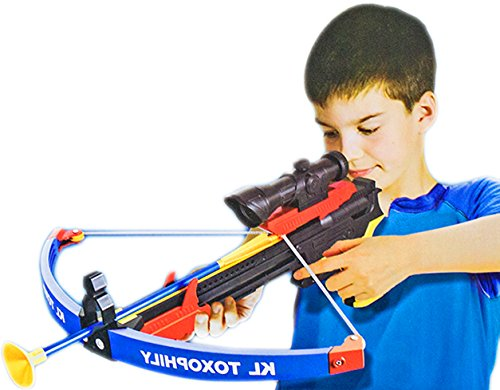 Armbrust Kinder Crossbow Zielscheibe Pfeile Visier Holster Köcher NICK and BEN