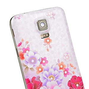 Winnema All flowers bloom together S5 Back cover,Replacement Hard Plastic Back Battery Door Rear Case Cover for Samsung Galaxy S5