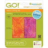 AccuQuilt 55158 GO! Fabric Cutting Dies-Rectangle 1-1/2X3