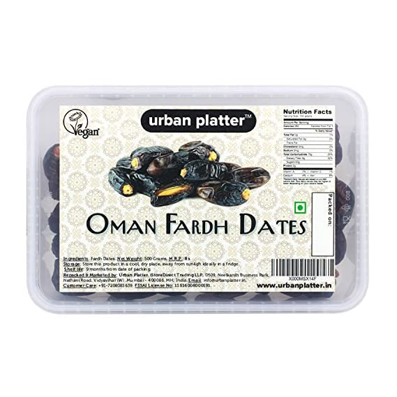 Urban Platter Fardh Dates from Oman, 500g
