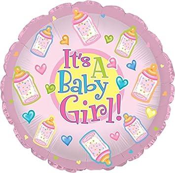 "Creative Converting CTI Mylar Globos, bebé niña botellas, 17, ""Rosa Pack"