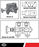 """Parker S Series Two-Position Selector Valve: Parker No. S-50, 20 GPM, 3000 PSI with 1/2"""" NPT Port Size, Pressure Balanced Spool and Chrome Plated"""