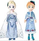 Olaf's Frozen Adventure Disney Elsa and Anna Plush Doll set 19 Inch