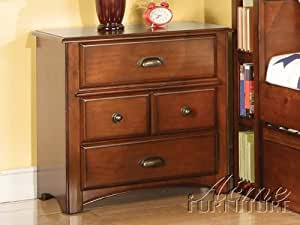 ACME 11013 Brandon Nightstand, Oak Finish