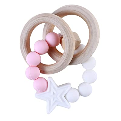 HAOWANG Baby Teether Bracelet Silicone Beads Chew Beads Teething Toy Teeth Care Comfortable White: Toys & Games [5Bkhe1804593]