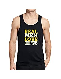 Teeburon REAL MEN LOVE Shih Tzus Tank Top