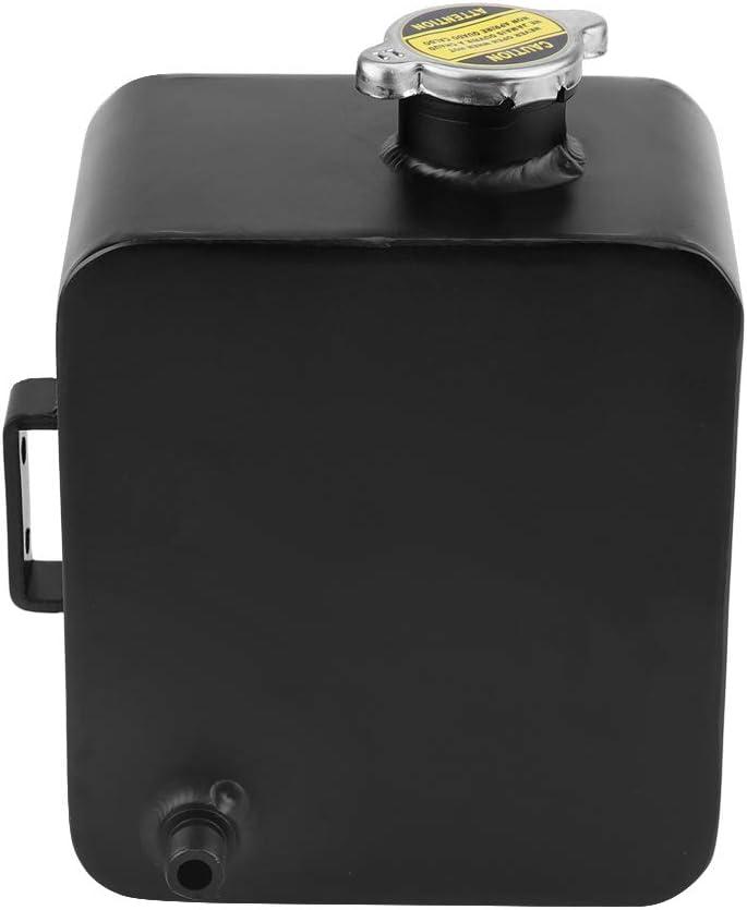 Depósito de recuperación de desbordamiento de expansión de refrigerante de 2.5L Depósito de agua Botella de radiador de aluminio universal con reemplazo de tapa