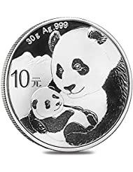 2019 CN Chinese Panda 30 Gram Silver Coin Yuan Uncircualted Mint