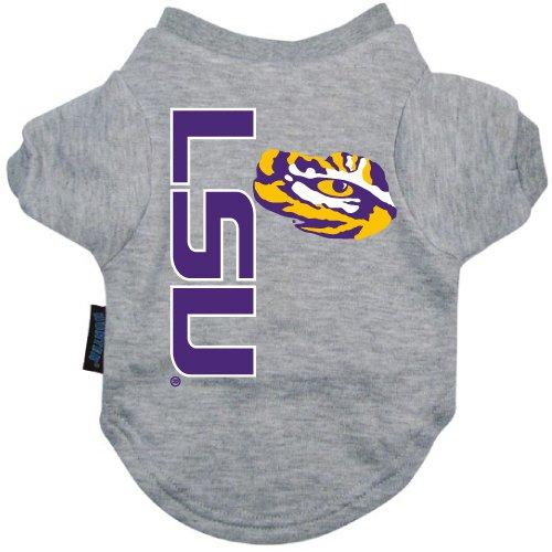 NCAA Louisiana State (LSU) Tigers Pet T-Shirt, Large, Team Color