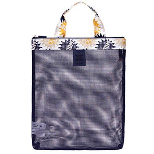 Coafit Bolsa de Playa Bolsa de Malla Impermeable Bolso de Almacenamiento de ArtíCulos de Tocador Bolso de NatacióN para Viajar Dark Grey