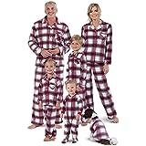 PajamaGram Christmas Pajamas for Family - Matching Pajamas, Red, Womens, M, 8-10