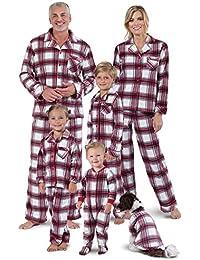 Christmas Pajamas for Family - Fleece Matching Pajamas, Red