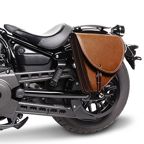 Indiana I 10l Marrone gauche FXDB Sacoche Cavali/ère Craftride pour Harley Davidson Dyna Street Bob