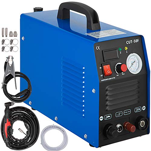 Mophorn 50 Amp Plasma Cutter Non-Touch Pilot Arc Dual Voltage 110 220V Plasma Cutting Machine 14mm(1/2 Inch) Cutting Thickness Portable Plasma Welder IGBT Inverter Digital Plasma Welding Machine