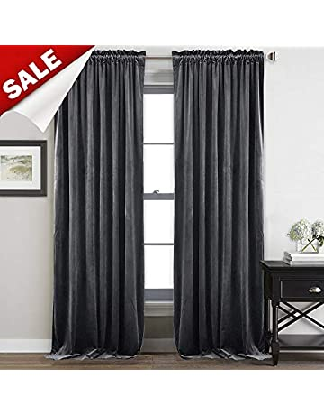 Hot Sale Drapes Curtains 2 Pair Home & Garden Window Treatments & Hardware