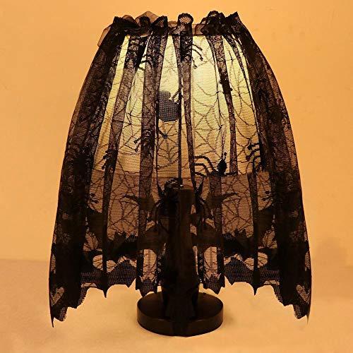 Opeer Halloween Pumpkin Spider Web Curtain Cloth Black