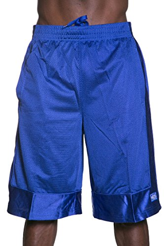Hat and Beyond Mens Heavyweight Mesh Shorts Athletic Fitness Gym Sports Workout S-5XL (4X-Large, 1ks14_Royal ()