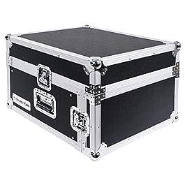 Sound Town 4U PA DJ Pro Audio Rack/Road ATA Case with 13U Slant Mixer Top, 23.5'' Rackable Depth, 4 Space Size (STMR-4U)