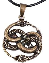 Cute Dragon Amulet Necklace Norse Viking Snake Talisman Pagan Wicca Spiritual Jewelry Men