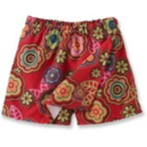 Outside Baby Quick Dry Skort, Red Flower, 3-9 Months