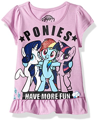 My Little Pony Little Girls' Short Sleeve Pullover, Lavender, (Little Kids Lavender Apparel)