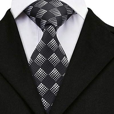 WOXHY Corbata de los Hombres Sn-258 Corbata Negra Corbata a ...