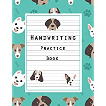 """Handwriting Practice Book: Writing Ruled, Penmanship Practice Paper Notebook Letters & Words with Dashed Center Line, Handwriting Hooked Learn, Handwriting Journal For Kids, 8.5"""" x 11"""" 100 Pages"""